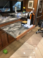 Pull-out work surface