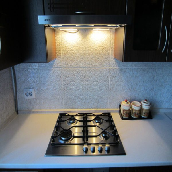 Functional built-in hood with backlit