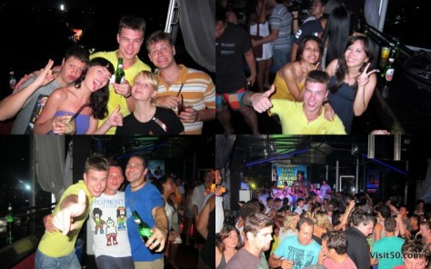 Photos of Kuta nightlife in Bali. Bali nightlife for singles starts in Kuta with parties like these