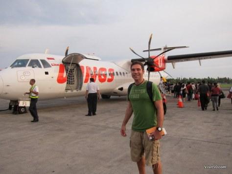 I flew Wings Air to go from Bali via DPS Denpasar airport to SUB Surabaya airport in Java