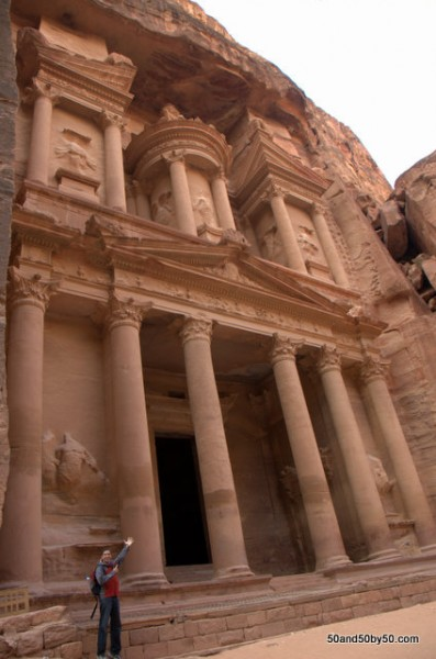 "Al Khazneh (""The Treasury"") - carved out of rock."