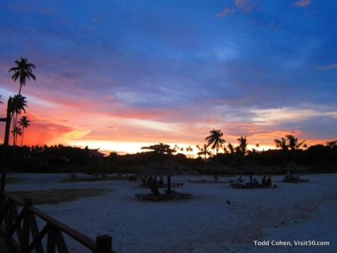 Beautiful Sunset at Mabul Island - Borneo - Malaysia