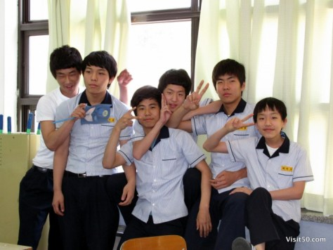 teaching english in South Korea - ESL classroom fun - the boys