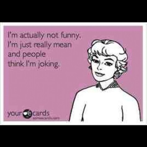 cartoon - i'm not funny