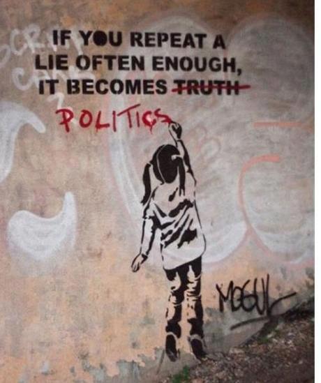 cartoon - lies politics