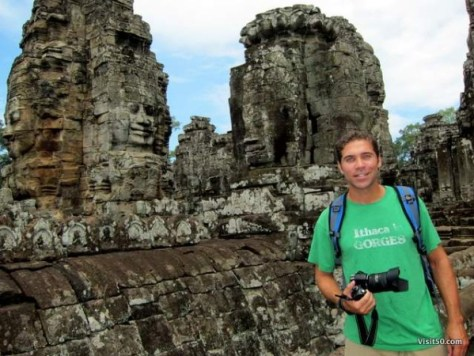 great photos of the Bayon temples in Angkor Thom, Siem Reap, Cambodia