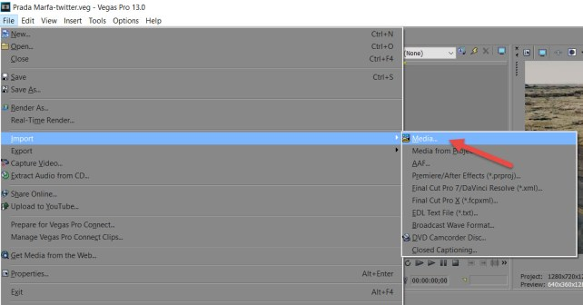 how to separate audio from video sony vegas 13