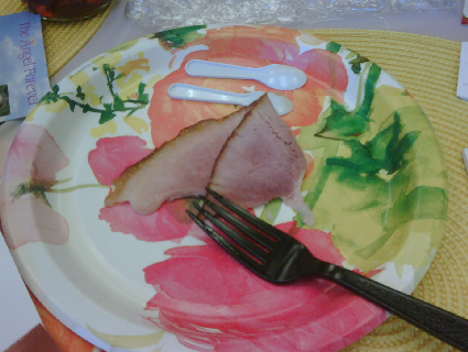 A piece of Cook's spiral sliced ham