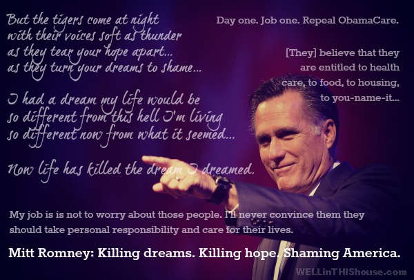 I Dreamed a Dream Anti-Mitt Romney Graphic