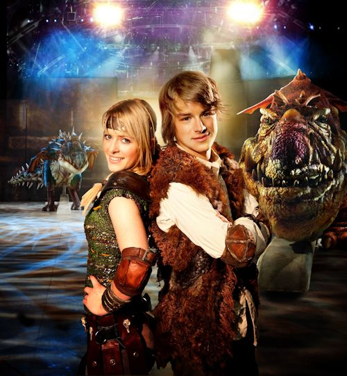 Astrid (Sarah McCreanor) and Hiccup (Rarmian Newton), photo credit Lisa Tomasetti