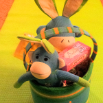 Check Out This Sock Monkey Easter Basket from Personal Creations