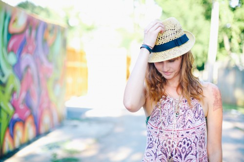 People - Woman in Straw Hat