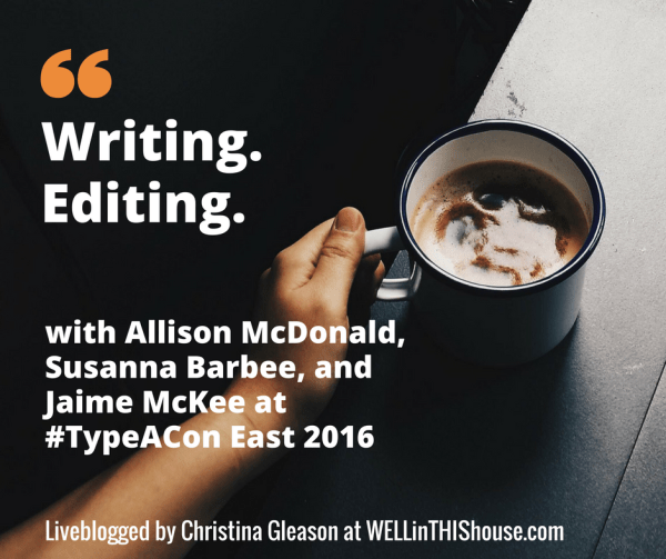 Writing & Editing at #TypeACon