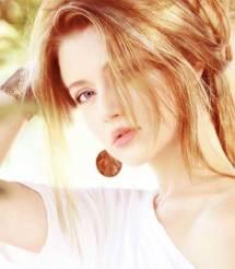 model with silk hair