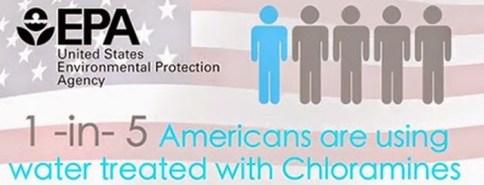 American using chloraminated water image
