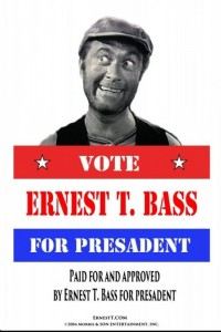 READY TO ROCK THE POLITICAL SCENE-- You can read the official announcement at www.ErnestT.com.