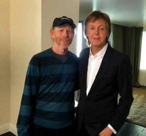 HEY PAUL--Ron Howard recently tweeted this photo of himself with Sir Paul McCartney. Follow Ron on Twitter @RealRonHowad.