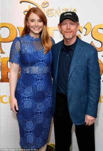 Ron Howard with daughter Bryce at a gala event in London on July 31for Disney's live-action version of Pete's Dragon, starring Bryce and Robert Redford, which opens in theaters nationwide on Friday.