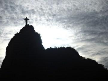 Die berühmte Christusstatue von Rio