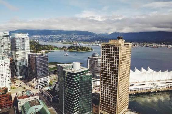 Die Stadt Vancouver in Kanada