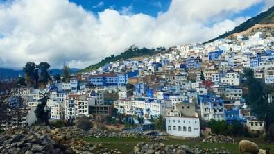 Marokko blaue Stadt