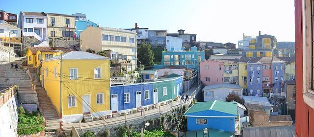 Häuserreiche in Valparaiso in Chile