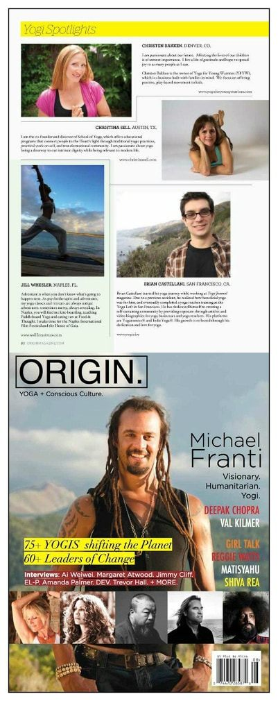 PRESS: Origin Magazine September 2012 Article Brian Castellani, Yogisbe, IndieYoga, Yoganomics