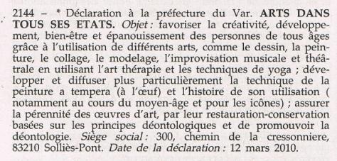 Declaration association