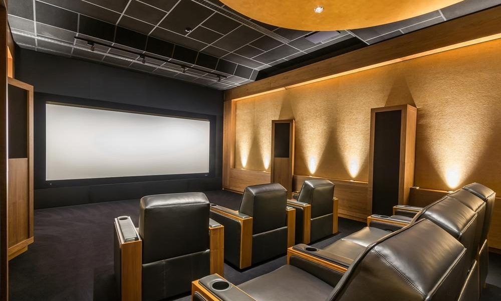 Stunning stylish home cinema. Luxury home theater design