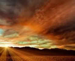 ワキガ治療の希望が見えたような夕日