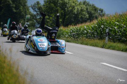 Suzuki LCR Side Car fun Ollon Villars Hillclimb revival