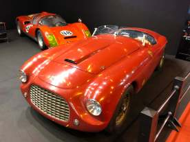"Ferrari 166 MM Barchetta Touring and Porsche 906 on this ""modest"" stand."