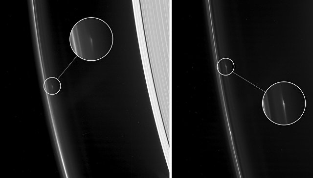 Cassini сфотографировал таинственные объекты вкольцах Сатурна
