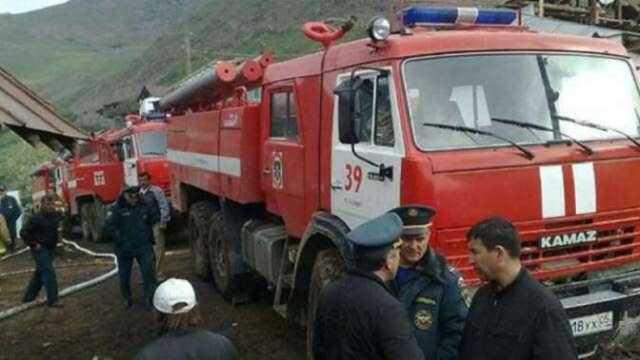 Одноэтажная школа сгорела в горном селе республики Дагестан