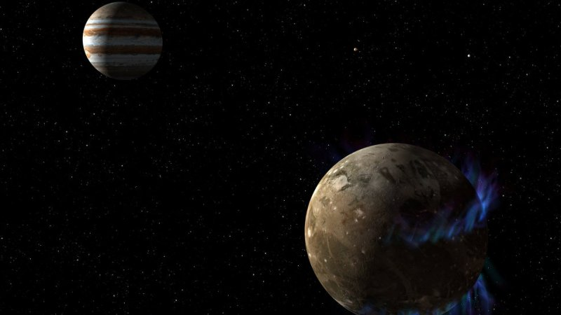 Ученые впервые обнаружили водяной пар на Ганимеде, крупнейшей луне Юпитера