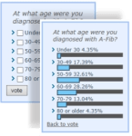 A-Fib.com Readers Poll: At what age were you diagnosed with A-Fib?