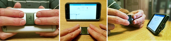 Three ways to hold the Alivecor Kardia to capture an ECG reading at A-Fib.com