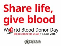 World Blood donor day sign at A-Fib.com