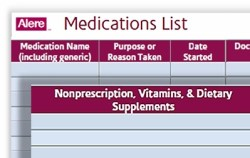 Free download: Medication Inventory form at A-Fib.com