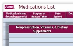 Free download: Medication Inventory form at A-Fib.com