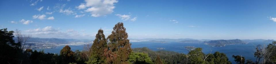 Panorama de la vue du sommet