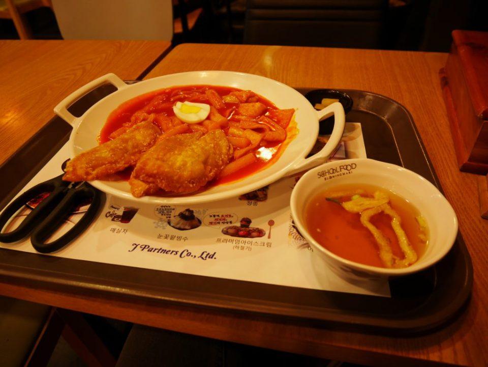 Tteokbokki, même la soupe était épicée