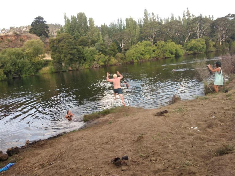 Good-bye Tim, jumping in the lake@dMb 2020