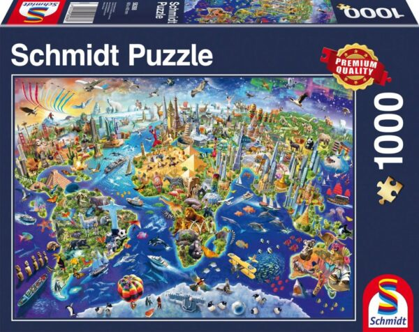 Schmidt Puzzle Discover the World 1000 db