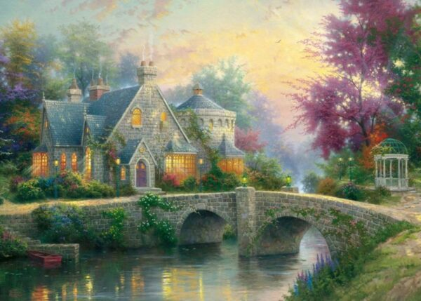 Schmidt Puzzle Lamplight Manor Thomas Kinkade 3000 db