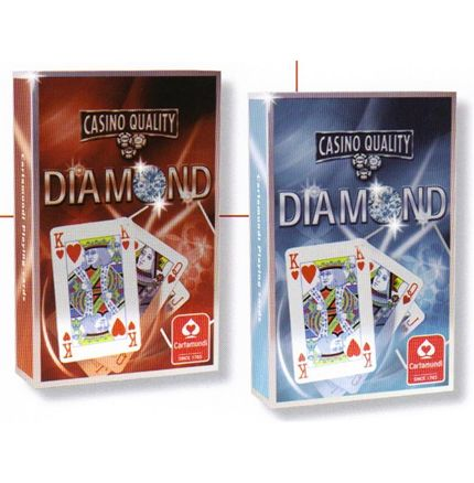 2 packs Diamond Casino Quality Playing cards Bridge size 430 440 7N884