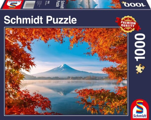 Schmidt Puzzle Autumn splendor of Mount Fuji, 1000 pcs