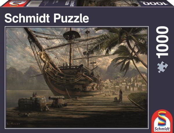 Schmidt Puzzle Ship at ancor, 1000 db