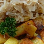 Knoephla, Potatoes and Sauerkraut