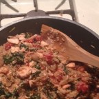 Quinoa with Salmon and Swiss Chard
